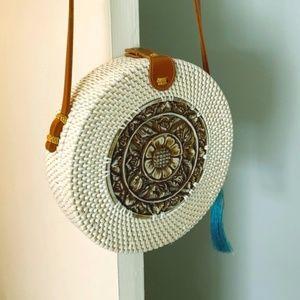 Handbags - Round Rattan Purse from Bali